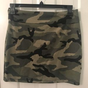 Urban outfitters camo print mini skirt